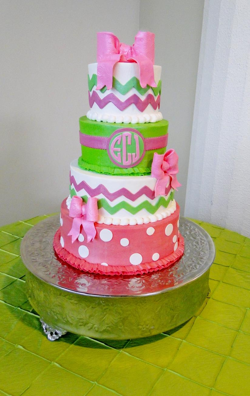 The Swirl Cakes - Monogram birthday cakes